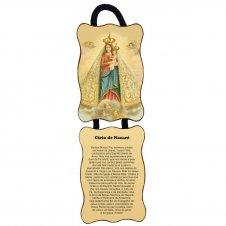 Imagem - Adorno de Porta Retangular Duas Peças - Nossa Senhora de Nazaré cód: 10060779