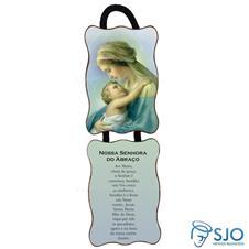 Imagem - Adorno de Porta Retangular -  Nossa Senhora do Abraço cód: 18391963