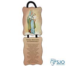 Imagem - Adorno de Porta Retangular - Nossa Senhora da Esperança cód: 17389813