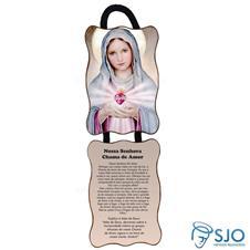 Imagem - Adorno de Porta Retangular - Nossa Senhora da Chama do Amor cód: 17420690