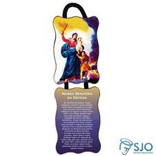 Imagem - Adorno de porta retangular - Nossa Senhora da Defesa cód: 14618323