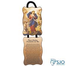 Imagem - Adorno de Porta Retangular - Nossa Senhora Desatadora de Nós cód: 10829544