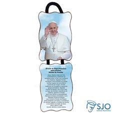 Imagem - Adorno de porta retangular - Papa Francisco cód: 16695517