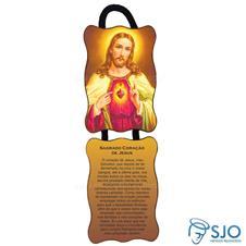 Adorno de Porta Retangular - Sagrado Coração de Jesus