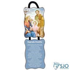 Imagem - Adorno de Porta Retangular - Sagrada Família - Mod 02 cód: 13541264