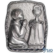 Imagem - Porta Retrato de Mesa Eucaristia - Menino cód: 11502843