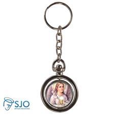 Chaveiro Redondo Giratório - Anjo Eucaristia - Modelo 1