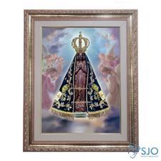 Imagem - Quadro - Nossa Senhora Aparecida - Modelo 1 - 52 cm x 42 cm - 14229658