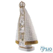 Imagem - Nossa Senhora Aparecida em Pérola Branca - 30 cm - Mod. 1 cód: 15318884