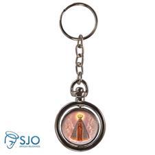 Imagem - Chaveiro Redondo Giratório - Nossa Senhora Aparecida - Modelo 2 - 10901403