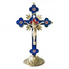 Imagem - Crucifixo de Mesa de Metal São Bento - 16Cm color:Dourado;size:Único cód: CDMSBD