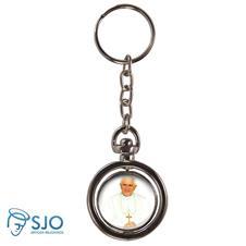 Chaveiro Redondo Giratório - Papa Bento XVI