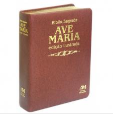 Imagem - Bíblia Ed Ilustrada Luxo - Média - Marrom cód: 979050