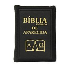 Imagem - Bíblia Sagrada de Aparecida com Capa de Ziper Simples na cor Preta cód: 14985826