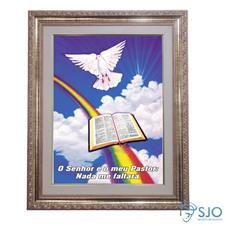 Quadro - Mensagem Bíblica - Modelo 1 - 52 cm x 42 cm