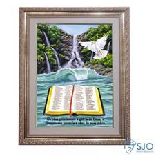 Imagem - Quadro - Mensagem Bíblica - Modelo 2 - 52 cm x 42 cm cód: 19303910