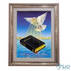 Imagem - Quadro - Mensagem Bíblica - Modelo 3 - 52 cm x 42 cm cód: 12002899