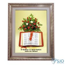 Imagem - Quadro - Mensagem Bíblica - Modelo 4 - 52 cm x 42 cm cód: 12102764