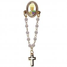 Imagem - Botton com Mini Terço Eucaristia cód: 15251117