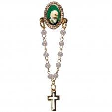 Imagem - Botton com Mini Terço Padre Pio cód: 19584401