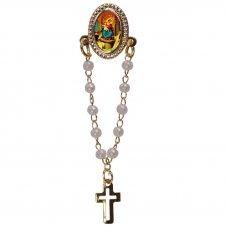 Imagem - Botton com Mini Terço Nossa Senhora do Rosário cód: 13841780