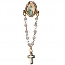 Imagem - Botton com mini terço Nossa Senhora da Esperança cód: 19464077