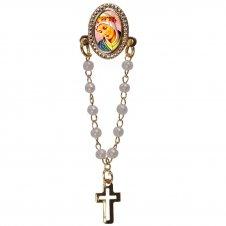 Imagem - Botton com Mini Terço Nossa Senhora da Salete - 10756014