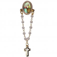 Imagem - Botton com Mini Terço Sagrada Família - 18641301