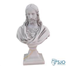 Imagem de Mármore Busto Sagrado Coração de Jesus