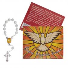 Imagem - Cartão com Mini Terço do Divino Espírito Santo cód: 10360811