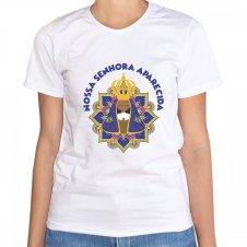 Imagem - Camiseta Feminina Branca Nossa Senhora Aparecida Mod. 2 cód: CFBNSAMD2