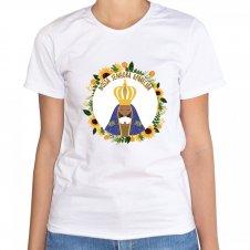 Imagem - Camiseta Feminina Branca Nossa Senhora Aparecida Mod. 3 cód: CFBNSAMD3