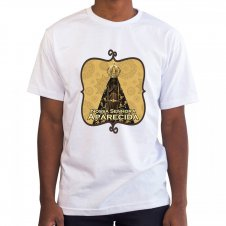 Imagem - Camiseta Masculina Branca Nossa Senhora Aparecida Mod. 1 cód: CMBNSAMD1