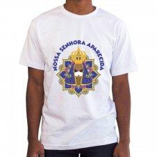 Imagem - Camiseta Masculina Branca Nossa Senhora Aparecida Mod. 2 cód: CMBNSAMD2