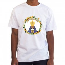 Imagem - Camiseta Masculina Branca Nossa Senhora Aparecida Mod. 3 cód: CMBNSAMD3