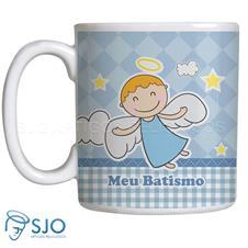 Imagem - Caneca Batismo com Oração - Menino Mod. 2 cód: 14232465