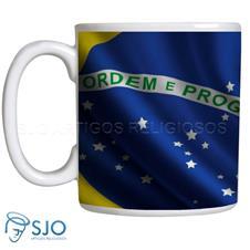 Imagem - Caneca Personalizada Bandeira do Brasil cód: 12854610