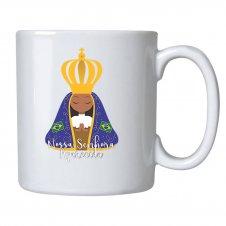 Imagem - Caneca Cerâmica de Nossa Senhora de Aparecida Infantil cód: CCNSAI