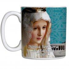 Imagem - Caneca Nossa Senhora de Fátima com Oração cód: 11871833