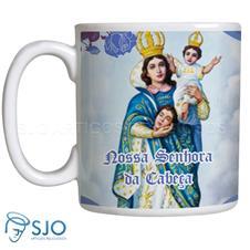 Imagem - Caneca Nossa Senhora da Cabeça com Oração cód: 18635568