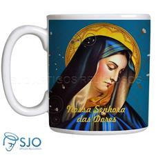 Caneca de Nossa Senhora das Dores com Oração