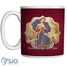 Imagem - Caneca Nossa Senhora Desatadora dos Nós com Oração cód: 13723490
