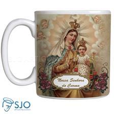 Caneca Nossa Senhora do Carmo com Oração