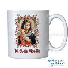 Imagem - Caneca Nossa Senhora da Abadia com Oração - 15057087