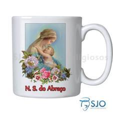 Caneca Nossa Senhora do Abraço com Oração