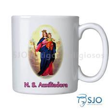 Imagem - Caneca Nossa Senhora Auxiliadora com Oração - 16561241