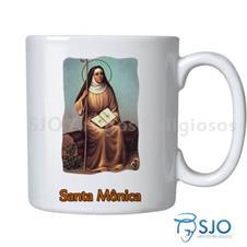 Caneca Santa Mônica com Oração