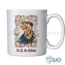 Caneca Nossa Senhora da Salete com Oração