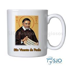 Caneca São Vicente de Paulo com Oração