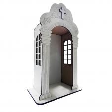 Imagem - Capela Branca em MDF - 24 cm cód: 18418746